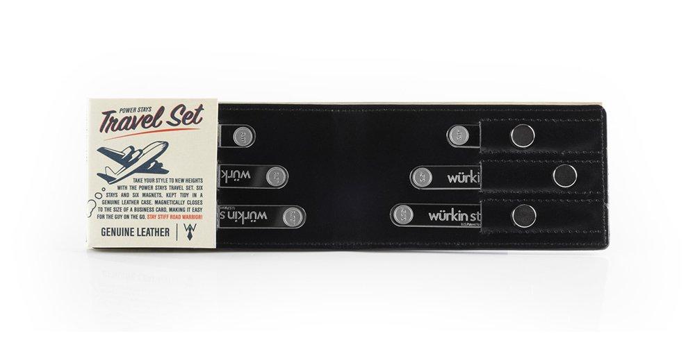 Wurkin Stiffs Assorted Size Magnetic Collar Stays Power Stay Travel Set