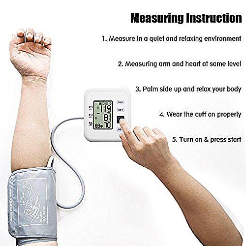 Amazon.com: Upper Arm Blood Pressure Monitor, WEILIGU Digital Voice Smart BP Meter with Large Display Cuff 8.7