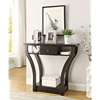 eHomeProducts Console Sofa Entry with Shelf/Drawer Brown