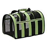 Zodae Portable Pet Carrier-Small Animals Travel Carrier, Soft Sided Tote Bag Purse,Airline Approved, Perfect for Small Dogs,Puppy, Cats (S)