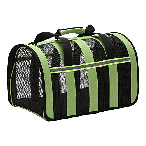 Zodae Portable Pet Carrier-Small Animals Travel Carrier, Soft Sided Tote Bag Purse,Airline Approved, Perfect for Small Dogs,Puppy, Cats (L)