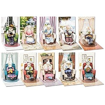 3 D Pop Up Grusskarten Sessel Inkl 3 D Motive Oma Opa Und