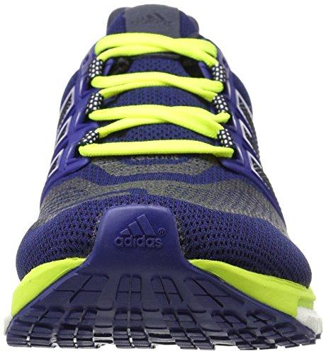 Adidas Performance Boost Energía 3 M zapatillas de running, mediados gris / negro / azul equipo, 6, Unity Ink/white/solar Yellow