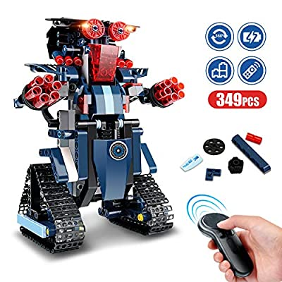 Remote Control Robot, RC Building Kit Building Block Robot Educational RC Robot Bricks STEM Toys Construction Engineering Building Blocks Learning Set Intelligent Gift for KidsAge 8 Years Old and up