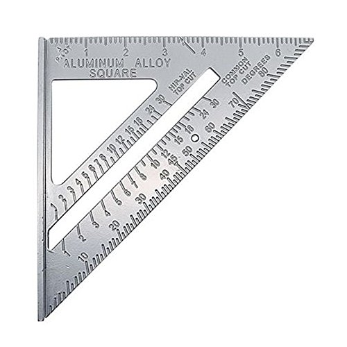 Metal Speed Square 7 Inch Woodworking 90 Degree Square Layout Tool