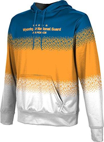 Men's Wyoming Air National Guard Military Drip Hoodie Sweatshirt (Apparel)