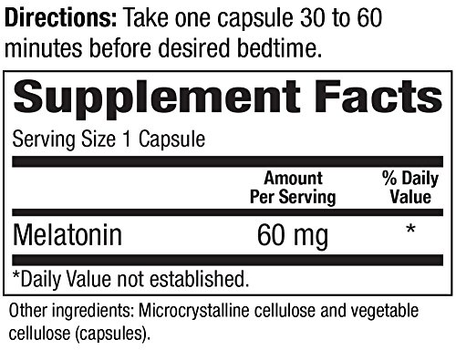 Amazon.com: High Dosage Melatonin 60mg,Melatonin Max Ensures an Ample Supply of This Important Hormone, 60 Capsules: Health & Personal Care