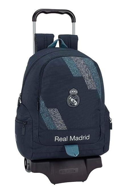 Amazon.com: SAFTA 611834313 Real Madrid - Mochila y carrito ...