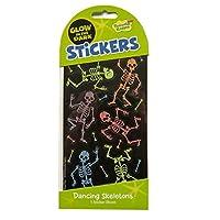 Peaceable Kingdom Glow in The Dark Dancing Skeletons Sticker Pack