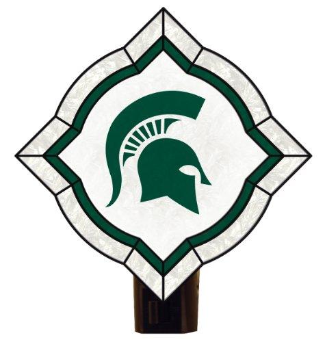 NCAA Michigan State Spartans Vintage Art Glass Nightlight