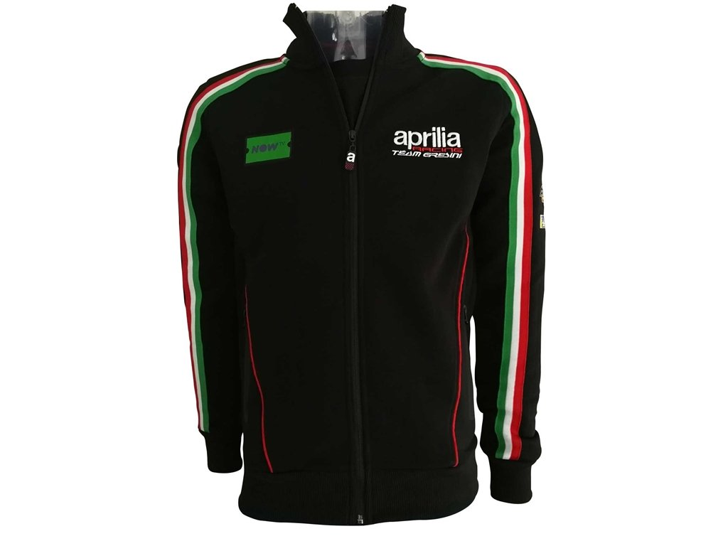APRILIA 2018 LINEA TECNICA FELPA FULL ZIP TAGLIA M Do design
