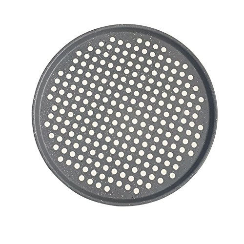 Yamde Nonstick Pizza Baking Plate 365 Indoor/Outdoor Large Pizza Pan, with holes,12-Inch