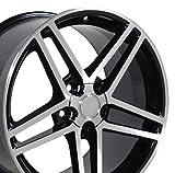 #10: 18x9.5 Wheels Fit Corvette, Camaro - C6 Z06 Style Black Rims - SET