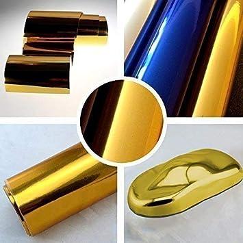 TipTopCarbon 7,89/€//m/² Chrom Autofolie Gold 2m x 1,52m Auto Folie BLASENFREI mit Luftkan/älen 3D Flex