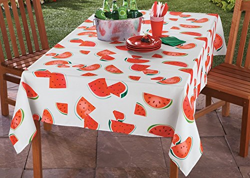 Collections Etc Watermelon Tablecloth Linens