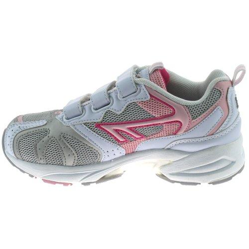 Hi-Tec  Hi-Tec P40 EZ JRG, Baskets mode pour fille multicouleur White/Silver/Pink