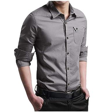 Hupoop_paño Hombre Hupoop Camisa Superior de la Camisa del Vestido ...