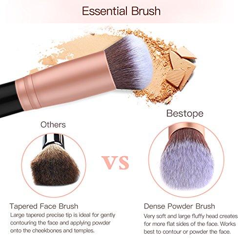 BESTOPE Makeup Brushes Premium Cosmetic Makeup Brush Set Synthetic Kabuki Makeup Foundation Eyeliner Blush Contour Brushes for Powder Cream Concealer Brush Kit