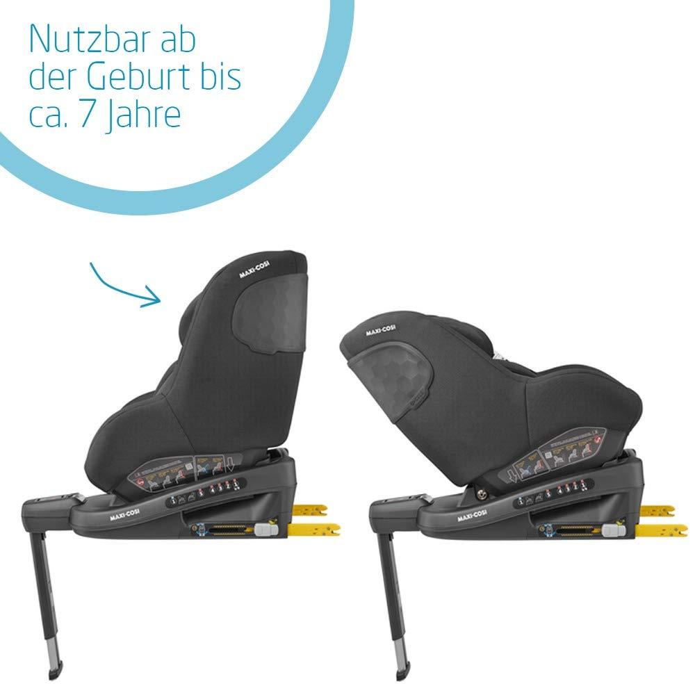 Maxi-Cosi Beryl Kindersitz schwarz 0+//1//2 Autositz Gr Authentic Black vor- und r/ückw/ärts Fahren geeignet f/ür jedes Auto dank Installation mit Gurt oder ISOFIX