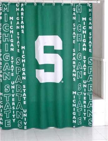 Michigan State Shower Curtain (Michigan Spartans State Curtain Shower)