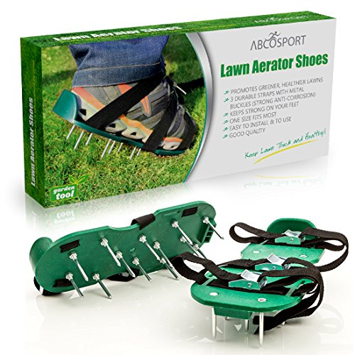 Lawn Aerator Spike Shoes – For Effectively Aerating Lawn Soil – Comes with 3 Adjustable Straps with Metallic Buckles – Universal Size that Fits all – For a Greener and Healthier Garden or Yard. by Abco Tech (Image #7)