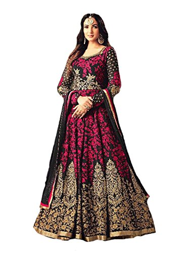 Ready Made Designer Fashion Anarkali Salwar Kameez Party Wear Maisha New (Pink, M-40) by Delisa