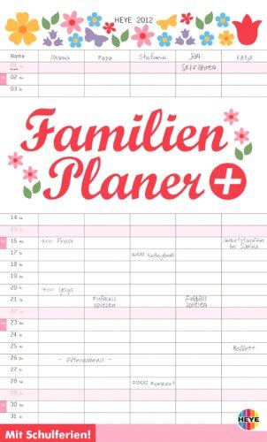 Familienplaner plus Tasche 2012: Mit Schulferien. 5 Spalten