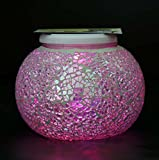 Solar Mosaic Glass Ball Garden Light Ball Mosaic Decorative Lights Stained Glass Decorative Table Lamp Garden, Corridor, Courtyard, Etc. ( Edition : C )