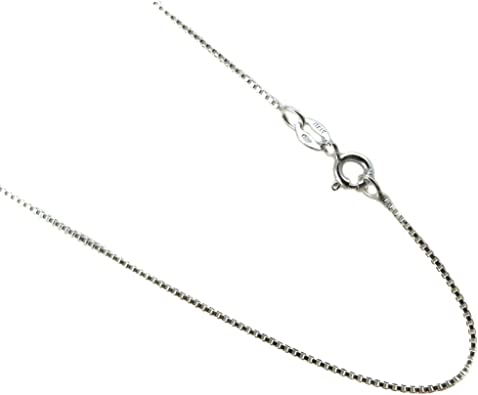 ".925 Sterling Silver 1mm Thin Cable Chain Necklace 14/"" 16/"" 18/"" 20/"" 22/"" 24/"" 30/"""