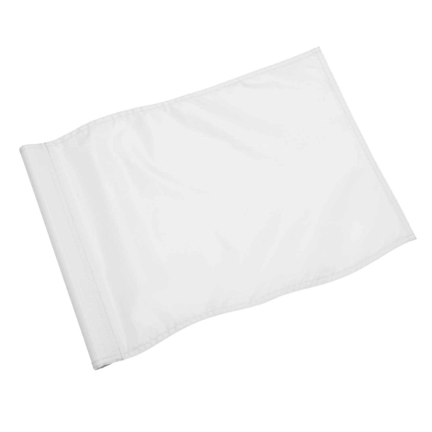 KINGTOP Solid Golf Flag with Plastic Insert, Putting Green Flags for Yard, Indoor/Outdoor, Garden Pin Flags, 420D Premium Nylon Flag, 13'' L x 20'' H, White by KINGTOP