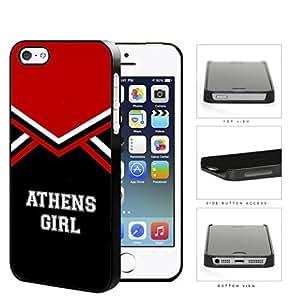 Athens City Girl School Spirit Cheerleading Uniform iPhone 5 5s Hard Snap on Plastic Cell Phone Cover by icecream...