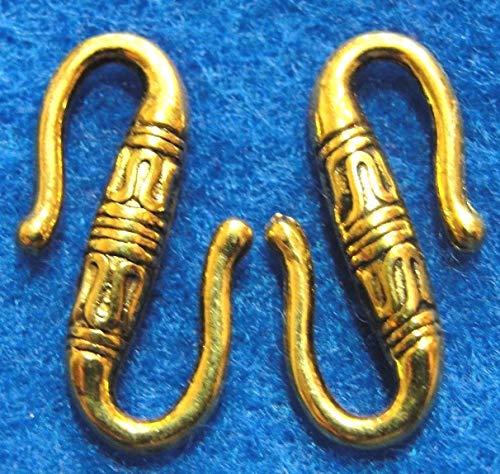 50Pcs. Wholesale Tibetan Antique Gold ''S'' Clasps Hooks Connectors Findings Q0722 Crafting Key Chain Bracelet Necklace Jewelry Accessories Pendants