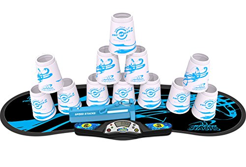 SPEED STACKS Competitor - PS2 White w/Blue Flow Mat (Stacks Speed Set)