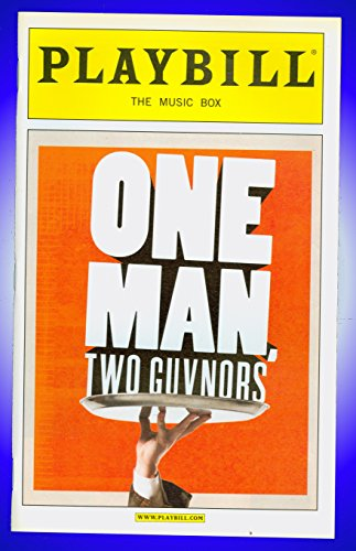 One Man Two Guvnors, Cleft Night Broadway playbill + James Corden , Ben Livingston
