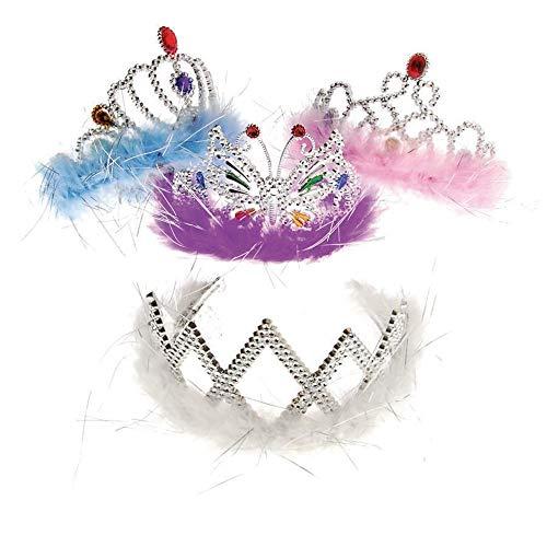 Feather Boa Princess Tiara