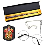 Magic Wand, Iron-On Patch Novelty Glasses Wand Necklace Cosplay Costume Accessory, 4 PCS