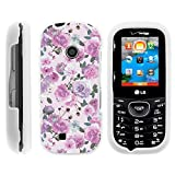 LG Cosmos 3 Case, Stylish Snug Fitted Hard Protector Cover Snap On Case with Customized Design for LG Cosmos 3 VN251S, LG Cosmos 2 VN251 (Verizon) from MINITURTLE | Includes Clear Screen Protector and Stylus Pen - Pink Purple Flower