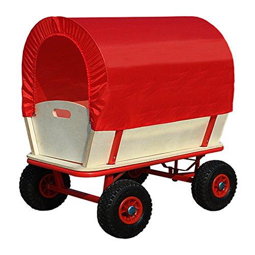 Con techo 100/% poliester DEUBA/® Carro de madera para jard/ín Capacidad de carga hasta 180kg