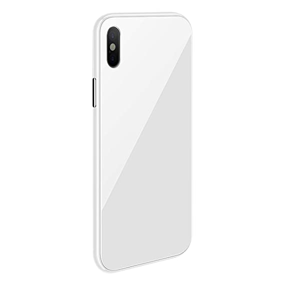 pretty nice 917bf b6a35 iPhone X/XS Max/XS/XR Magnetic Case with Metal Frame Glass Back Case for  iPhone 10 Aluminum Alloy Tempered Glass with Built-in Magnet Flip Cover for  ...