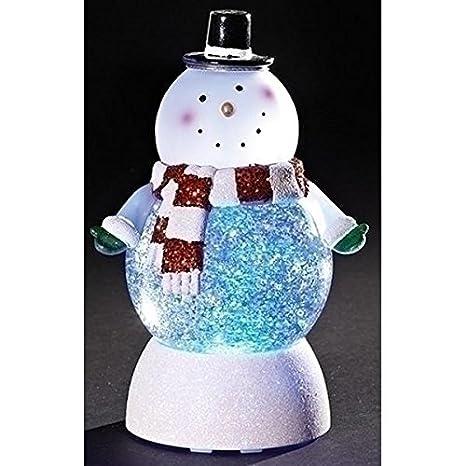 Amazon.com: Snowman Swirl Dome - Globo de nieve con luz LED ...