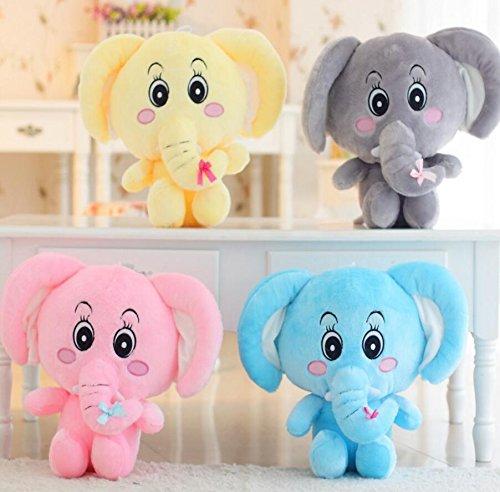 Amarillo Suave y Bonita Lindo 25x20cm Elefante Peluche Juguetes Suaves Elefante Animado Juguetes Suaves Regalo de mu/ñeca beb/é ni/ño Juguetes de Peluche para ni/ños
