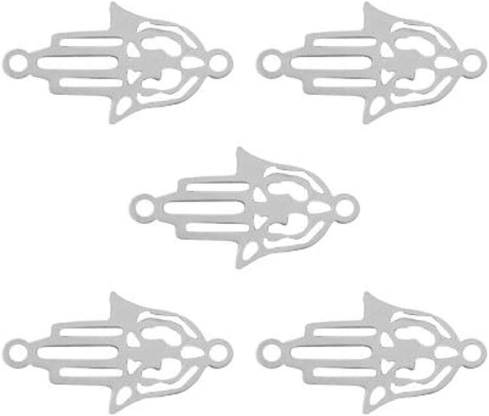 23 x 10 mm 5 St/ück Armb/änder basteln Schmuckverbinder Blatt Silber Makramee Sadingo Schmuckverbinder Edelstahl