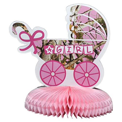 Havercamp Baby Girl Camo Party Table Decoration Centerpiece (