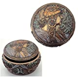 Bronze Intricately Iconic Art Nouveau Decorative Jewelry Box