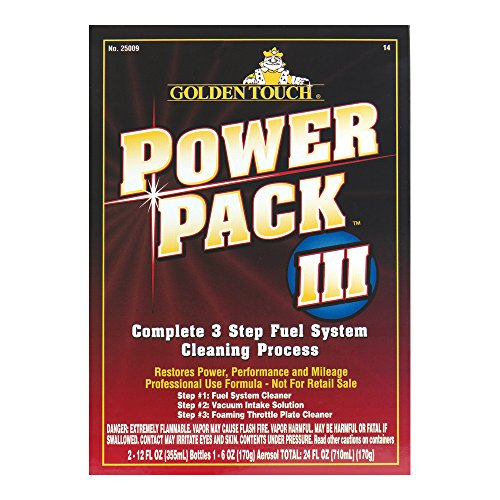 Golden Touch 25009-8PK Complete 3 Step Fuel System Cleaning Process - 24 fl. oz., (Pack of 8) by Golden Touch