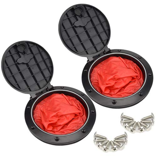 WMYCONGCONG 2 PCS 6 inch Deck Plate Kit Deck Hatch with Cat Bag for Kayak Boat Fishing ()