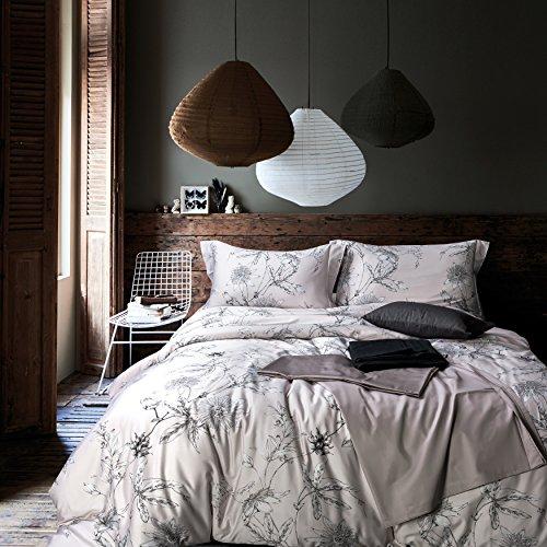 MILDLY 3 PC 100% Egyptian Cotton Duvet Cover Set, Ultra Soft Quality Premium Bedding Collection, Hidden Zipper Closure, Corner Ties (Nax, King)