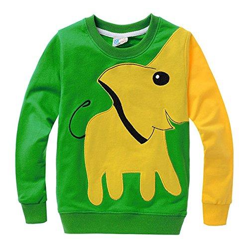 MIOIM Fashion Kids Boys Lucky Cartoon Elephant Pullover Tops T-Shirt - Fashion Hapa