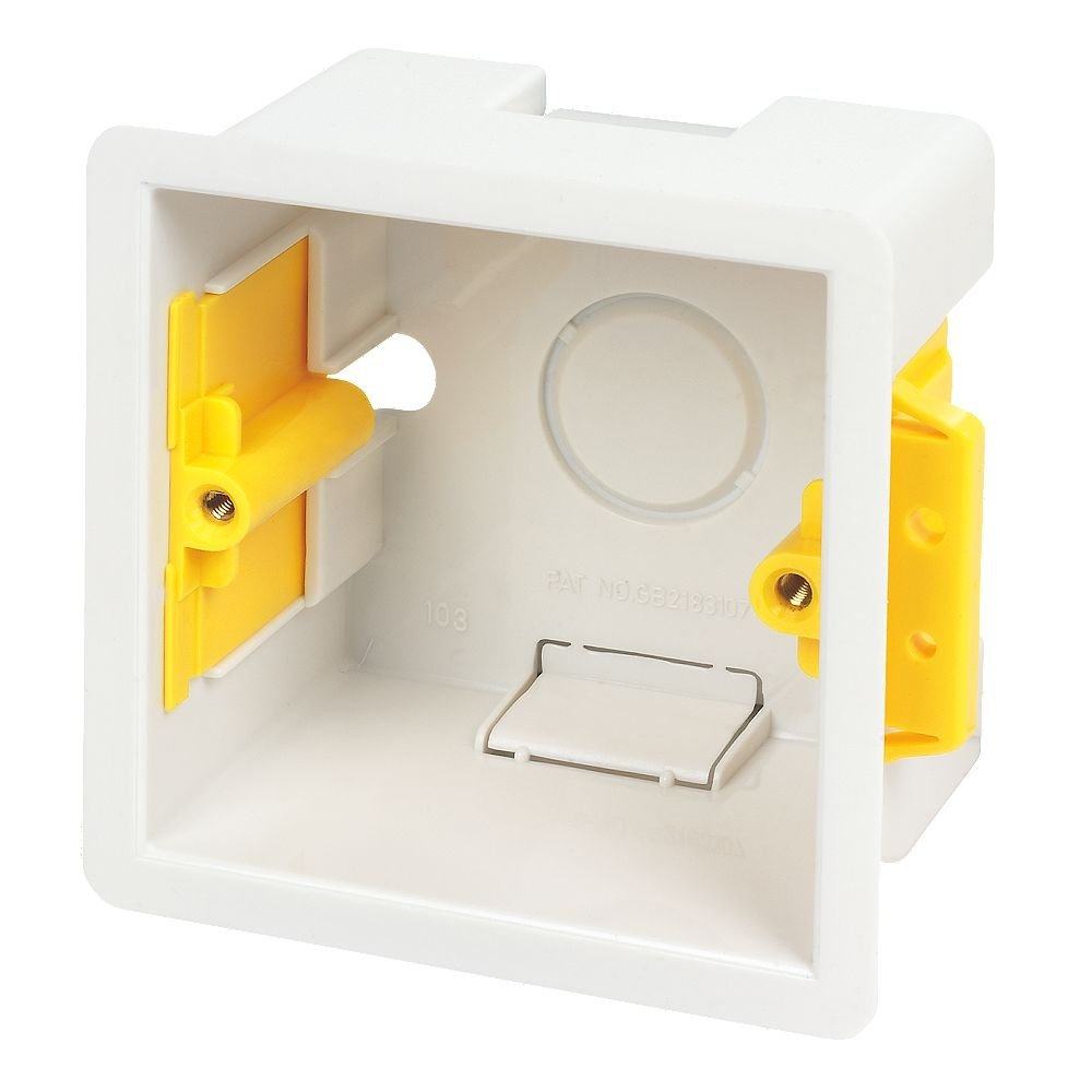 Appleby White Square Mounting Box, 47 mm