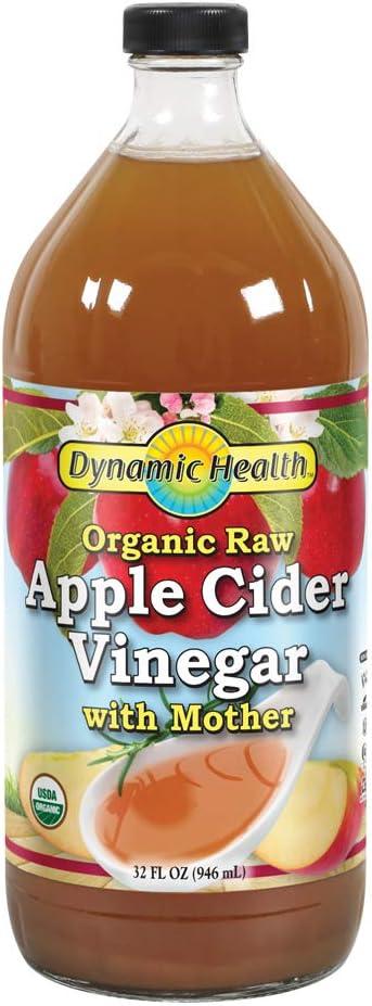 Dynamic Health Apple Cider Vinegar Organic with Mother, 32 Fluid Ounce